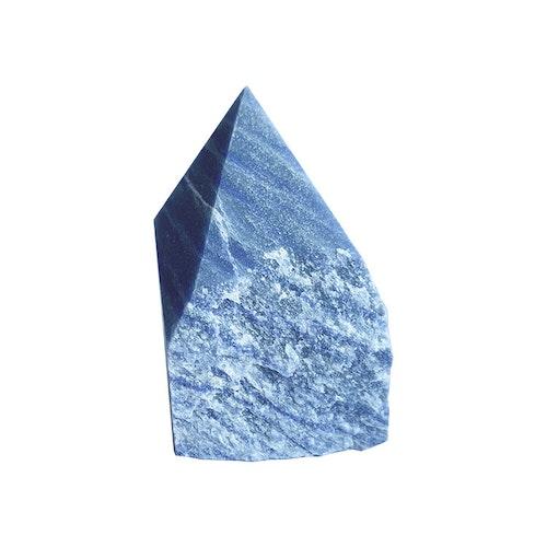 Blå Kvarts AA halvrå Spets M