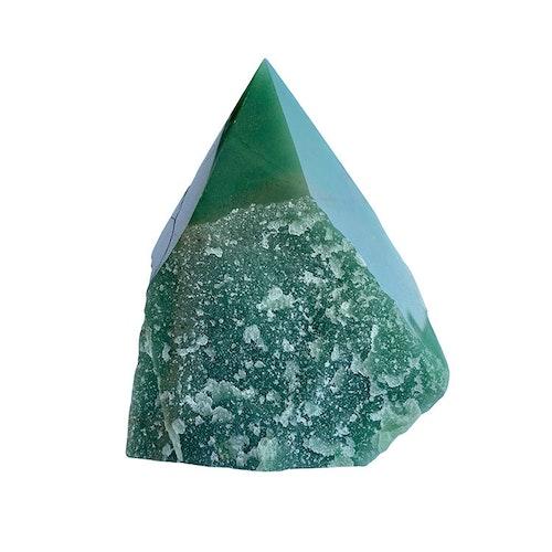Grön Aventurin AA halvrå Spets L