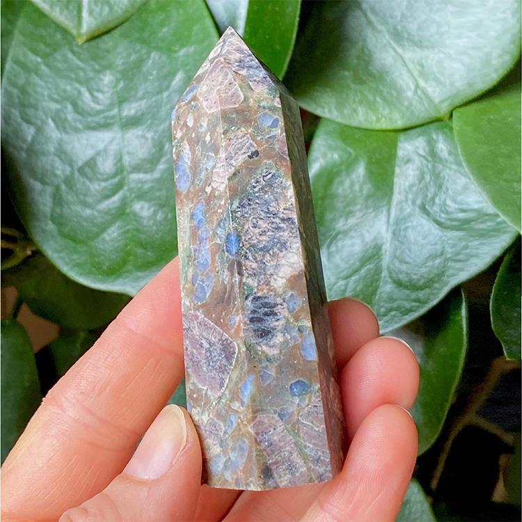 Blå Llianit spets 8 cm