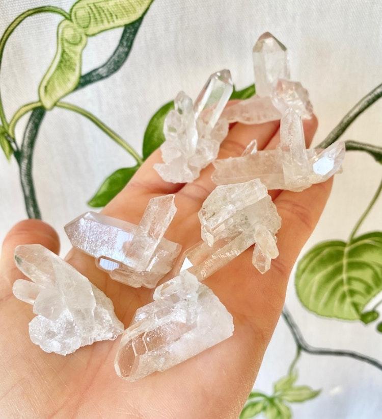 Bergkristall babykluster 2x50 gr