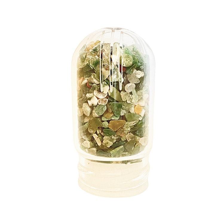 Stenar till kristallvattenflaska