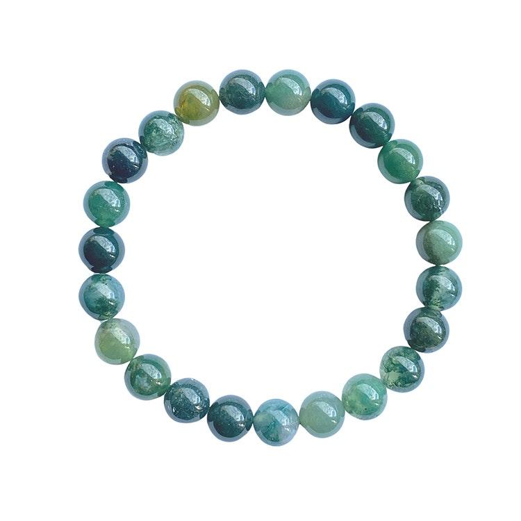 Mossagat armband 8 mm pärlor