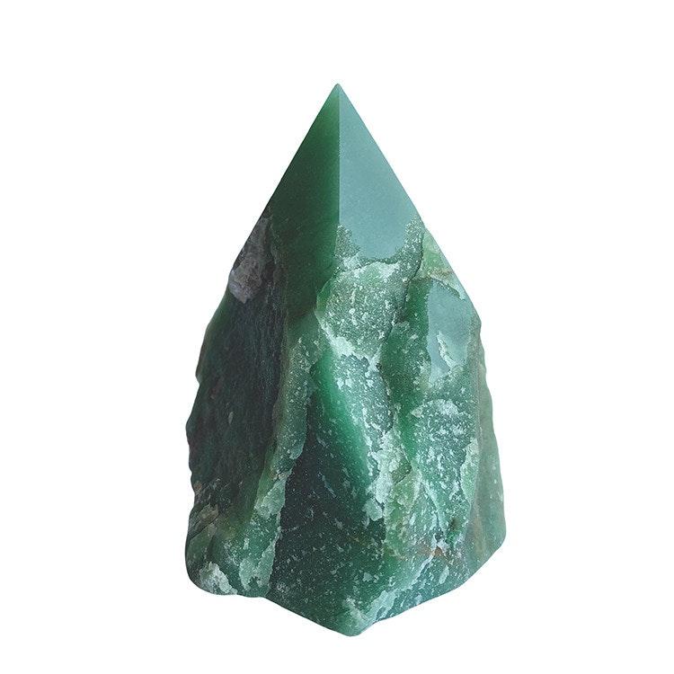 Grön Aventurin AA halvrå spets XL