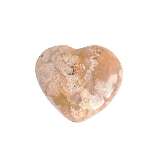 Blomsteragat hjärta 5 cm
