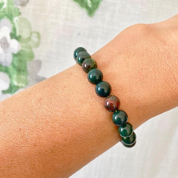 Blodjaspis armband 8 mm pärlor