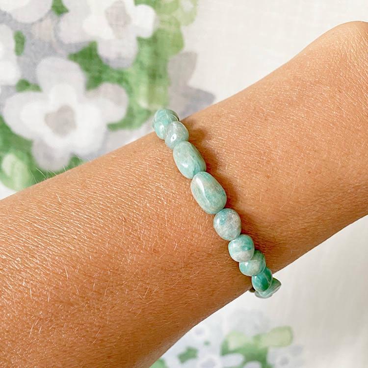Amasonit armband 8-10 mm pärlor