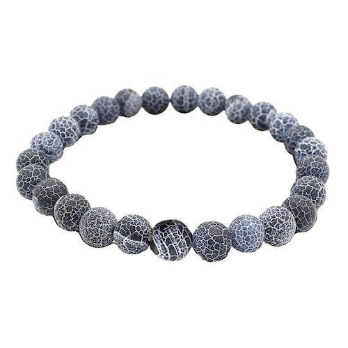 Dragon´s Vein Agat armband 8 mm pärlor