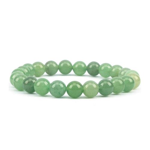 Grön Aventurin armband 8 mm pärlor