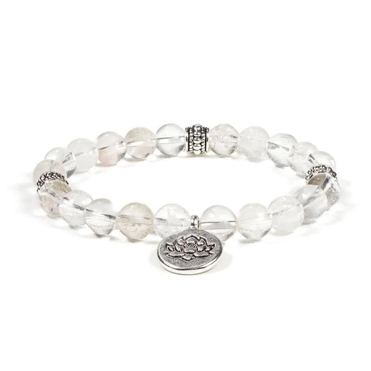 Bergkristall armband med Lotus