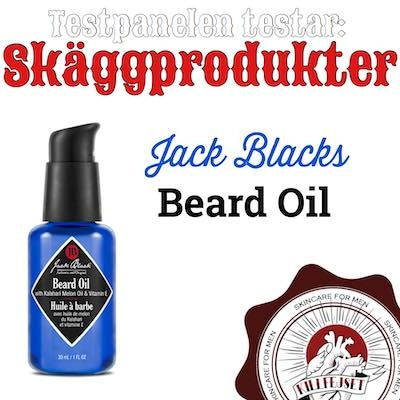 Jack Blacks Beard Oil testats av Nicke!