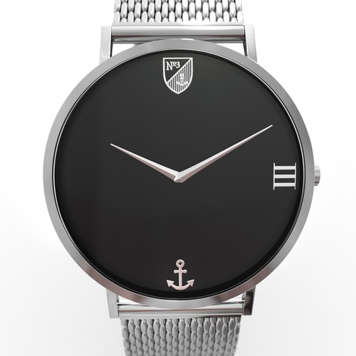 Number3 - Classic Silver (40 mm)