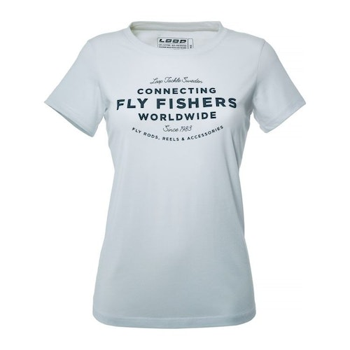 Womens Connecting Flyfishers T-shirt, White