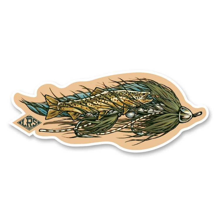 Brown Trout Streamer Decal