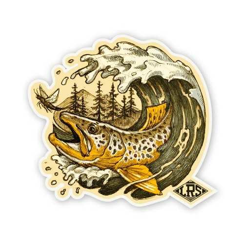 Brown Trout Wave Decal
