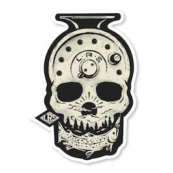 FOREVER FISHING SKULL DECAL