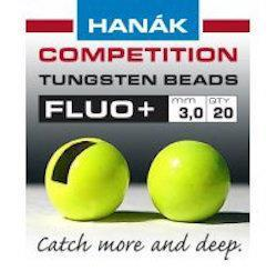 Hanak Fluo+ Slotted Tungsten Beads