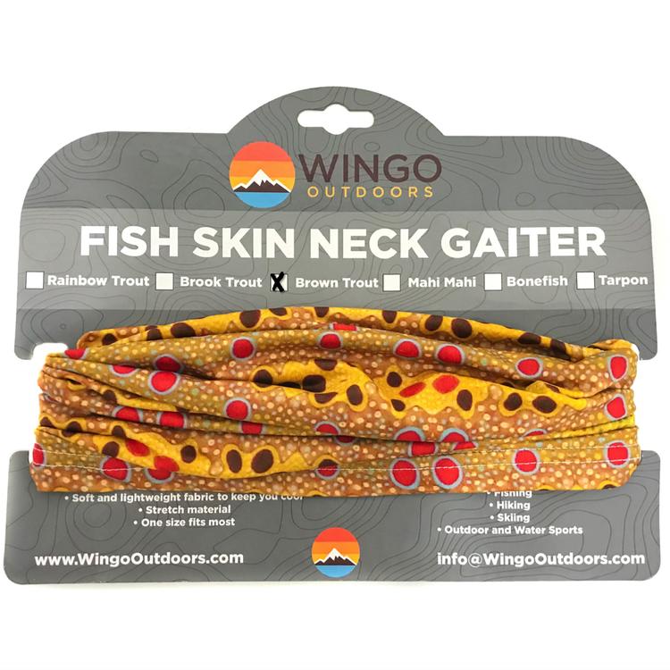 Wingo Fish Skin Neck Gaiter - Brown Trout