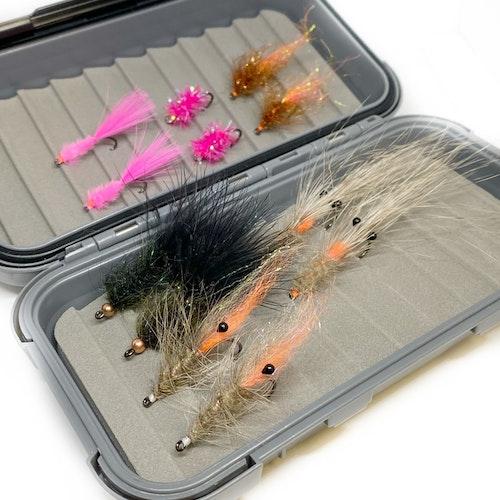 Flugbox med Havsöringsflugor