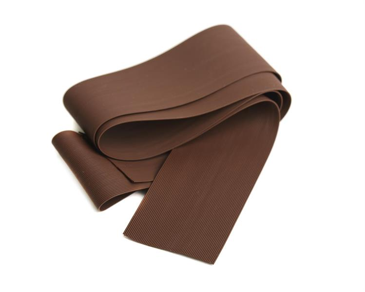 Round Rubber Legs - Small/Brown