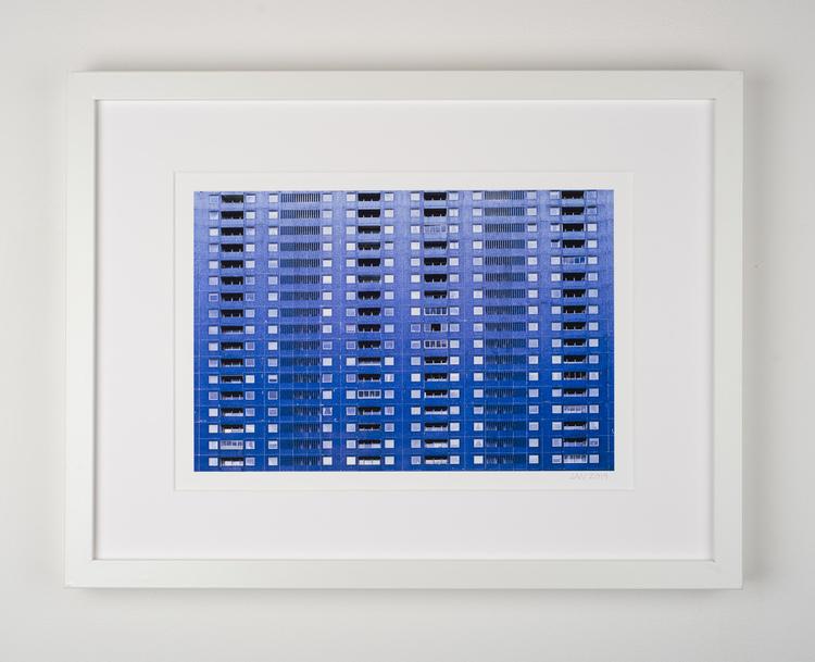 """""""blue building"""" 9/25"""