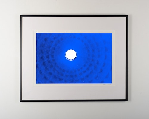 """feeling of blue"" black frame"