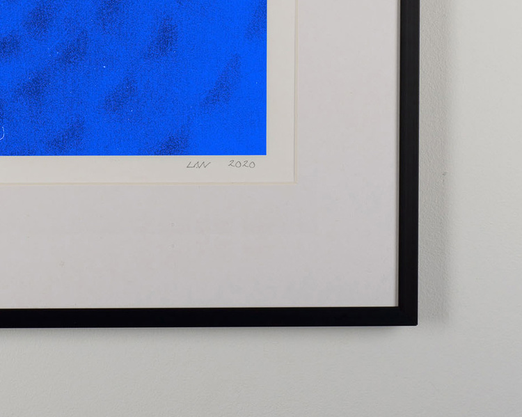 """""""feeling of blue"""" black frame"""