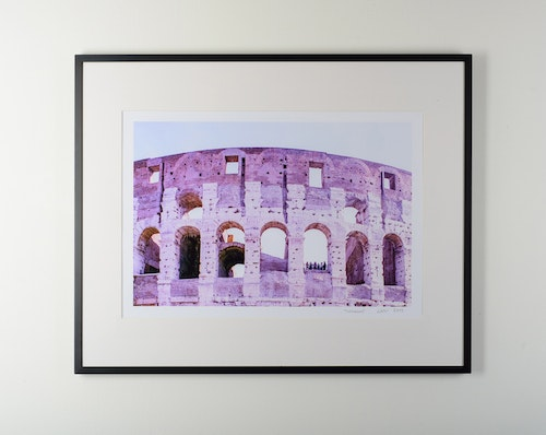 """colosseo"" black frame"
