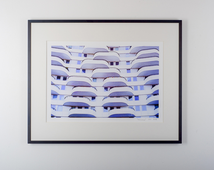"""balconies"" black frame"