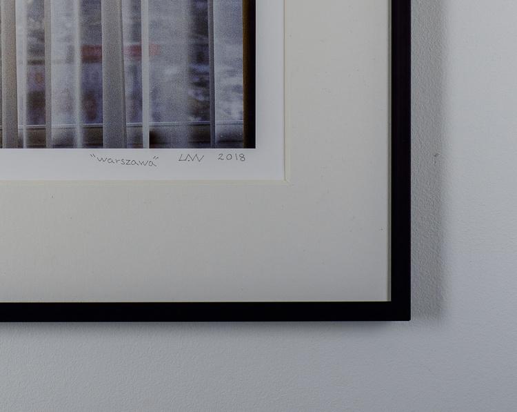 """""""warszawa"""" black frame"""