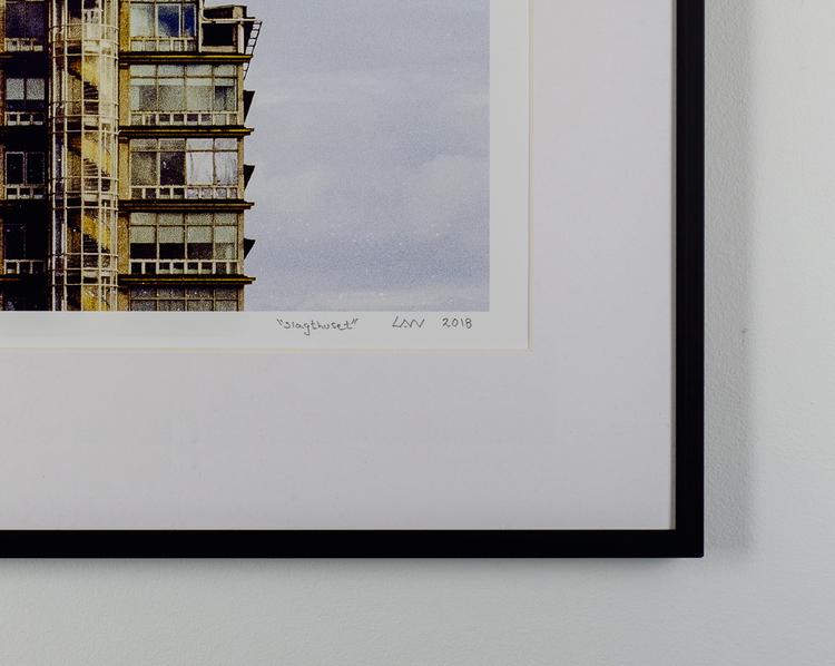 """""""slagthuset"""" black frame"""
