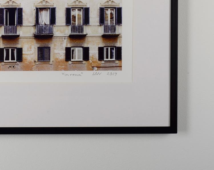 """""""in roma"""" black frame"""
