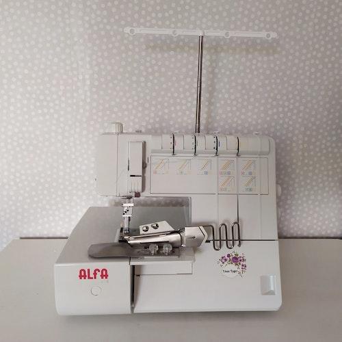 Alfa Hogar STYLE Coverstitch Täcksömsmaskin. INKL 4-viks bandkantare.
