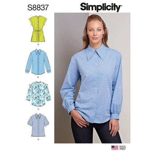 Simplicity 8837 R5 Dam Storlek 40-48 Blus