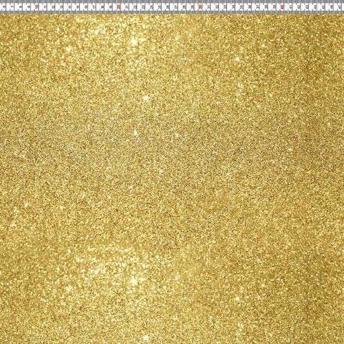 6dm klippt bit - Bomullstrikå - Tryckt glitter guld