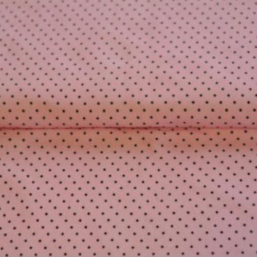 16dm klippt bit - STENZO Bomullstrikå - Gammalrosa med prickar