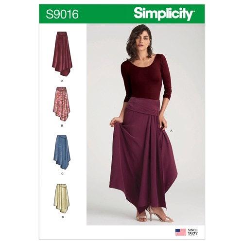 Simplicity 9016 H5 Dam storlek 32-40 Kjol