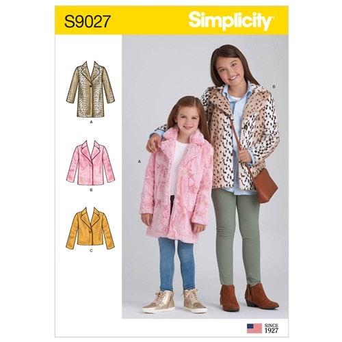 Simplicity 9027 K5 Barn Storlek 7-14 Jacka Kappa