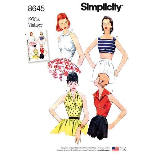 Simplicity 8645 R5 Dam stl 40-48 Överdel