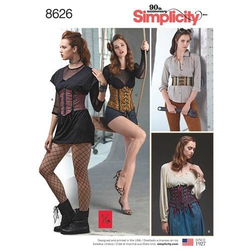 Simplicity 8626 R5 Dam stl 40-48 Överdel