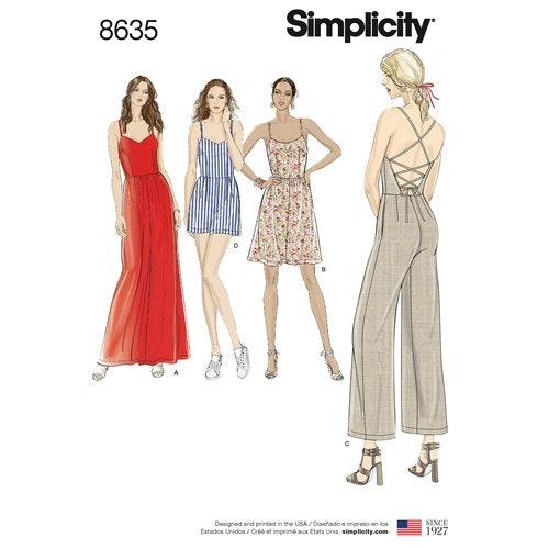 Kopia Simplicity 8635 R5 Dam Storlek 40-48 Flera plagg
