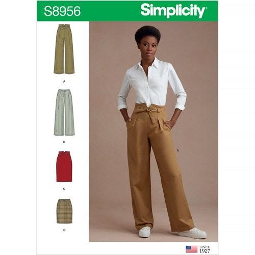 Simplicity 8956 P5 Dam storlek 38-46 Byxa Kjol