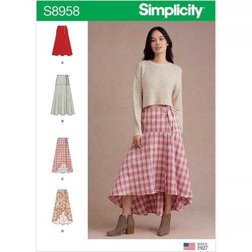 Simplicity 8958 U5 Dam storlek 42-50 Kjol