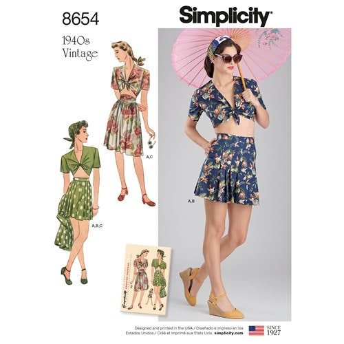 Simplicity 8654 P5 Dam Storlek 38-46 Flera plagg