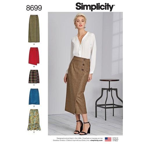 Simplicity 8699 R5 Dam storlek 40-48 Kjol