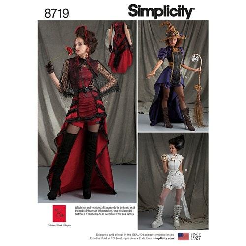 Simplicity 8719 R5 Dam Storlek 40-48 Steampunk