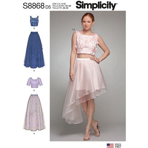 Simplicity 8868 P5 Dam Storlek 38-46 Flera plagg