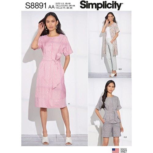 Simplicity 8891 BB Dam Storlek 46-54 Flera plagg