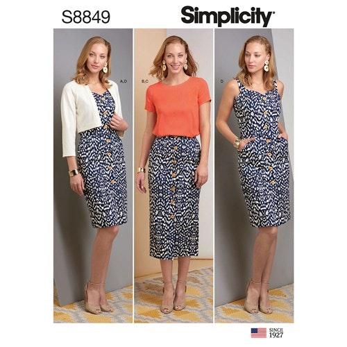 Simplicity 8849 U5 Dam Storlek 42-50 Flera plagg