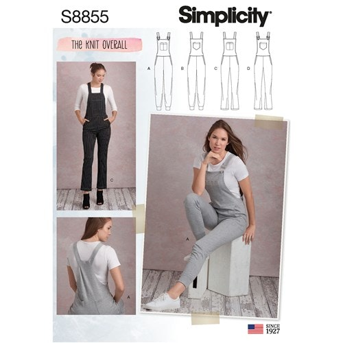 Simplicity 8855 R5 Dam Storlek 40-48 The Knit Overall