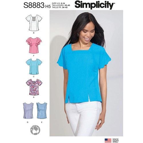 Simplicity 8883 U5 Dam Storlek 42-50 Blus Topp